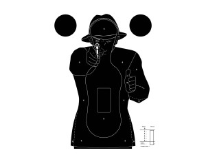 100 cibles silhouette Police 51 x 71 cm