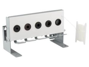 Cible mobile type biathlon grand modèle 5 trous pour 4,5 mm