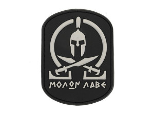 Patch PVC Molon Labe Noir