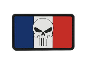 Patch PVC Skull Drapeau France
