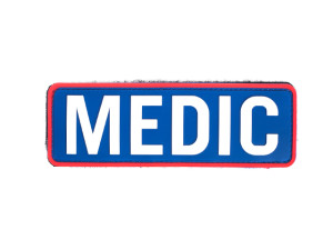 Patch PVC Medic Blanc et Bleu