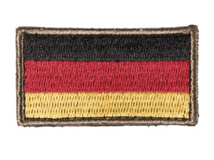 Patch brodé drapeau allemand 3.5 x 6cm