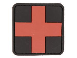 Patch PVC premier secours croix rouge 5.5 x 5.5cm