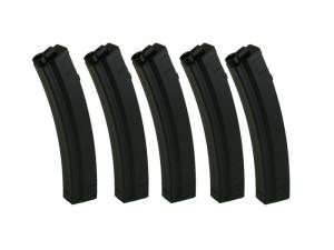 Lot de 5 chargeurs MP5 mid-cap 100 billes - King Arms