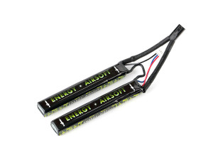Batterie LiPo 11,1v 2400mah 25c double stick solo12 - energy airsoft