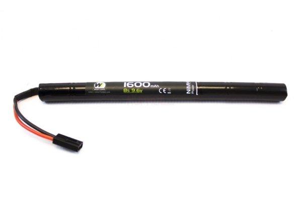 Batterie mini bâton 9,6 v / 1600 mah NiMh type AK np