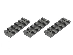 Lot de 3 rails Keymod 5 slots