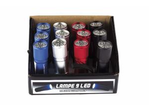 12 lampes 9 LED en présentoir - Lumitorch