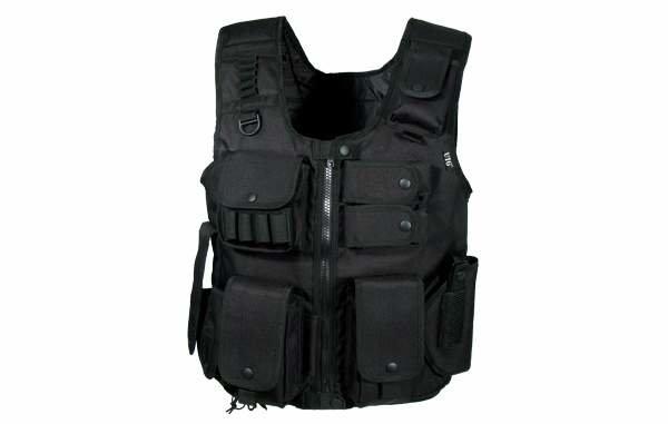 Gilet tactique Noir Swat law enforcement