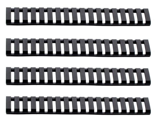 Lot de 4 cache rail Noir - G&G