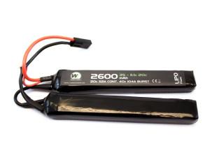 Batterie LiPo 2 éléments 7,4 v/2600 mAh