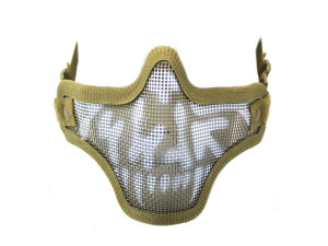 Bas de masque grillage shield skull - tan