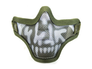 Bas de masque grillage shield skull - Vert