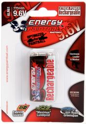 Accu rechargeable type 6LR61 9,6 volts - Energy Paintball