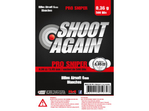 Billes 0.36g Pro Sniper - sachet de 500 billes - Shoot Again