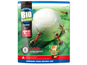 Billes G&G 6 mm 0,28 gr biodégradables
