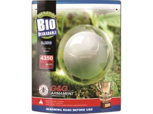 Billes G&G 6 mm 0,23 gr biodégradables en sachet de 1 kg