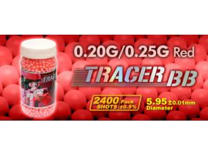 Billes 6 mm 0,20 et 0,25 g tracer rouge/ fluo