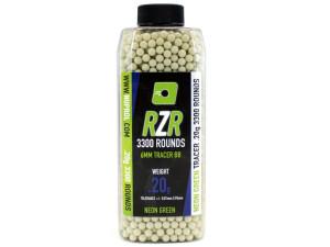 Billes RZR 0.20g bouteilles 3300bb TRACER vertes - Nuprol