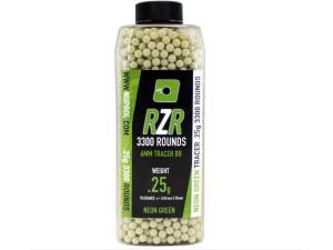 Billes RZR 0.25g bouteilles 3300bb TRACER vertes - Nuprol