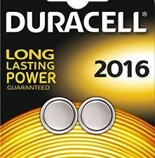 Piles CR2016 3 volts - Duracell