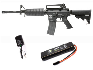 Pack complet AEG + batterie + chargeur cm16 carabine Noir - G&G