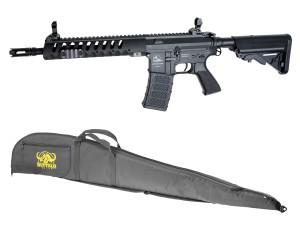 Pack AEG M15 armalite complet Mosfet 1,2j Noir + housse offerte - asg