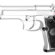 Réplique pistolet M92 gaz chrome GNB