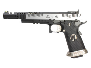 Réplique GBB HX2401 IPSC split silver . 38 supercomp - AW custom