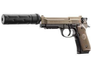 Réplique Beretta M92 A1 Tactical noir/tan avec silencieux