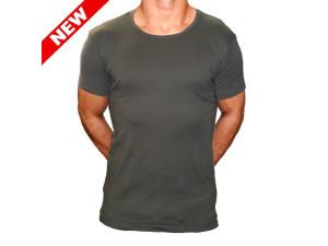 Tee shirt slim Vert cote 1x1
