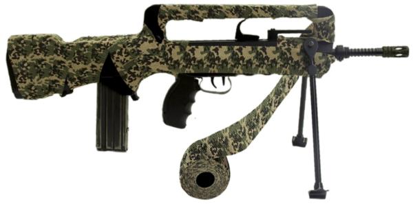 Ruban camouflage réutilisable